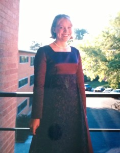 In my women's chorus dress-- so young!